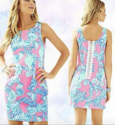6783daaeb Lilly Pulitzer NWT Lilly Pulitzer ~BAREFOOT PRINCESS~ CATHY Shift DRESS ~ PINK POUT~