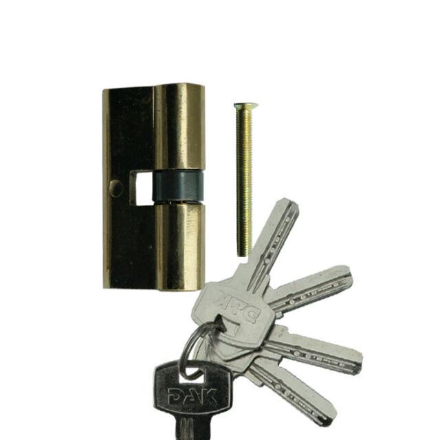 Türzylinder Einbauschloss Zylinder Schloss 60mm 30/30 Schloss mit 5 Schlüssel
