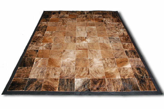 New Cowhide Rug Patchwork Cowskin Cow Hide Leather Carpet Brindle