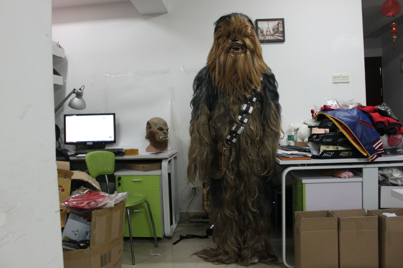 Picture 1 of 12 ... & Halloween RARE Star Wars Chewbacca Fancy Dress Costume Adult Xmas ...