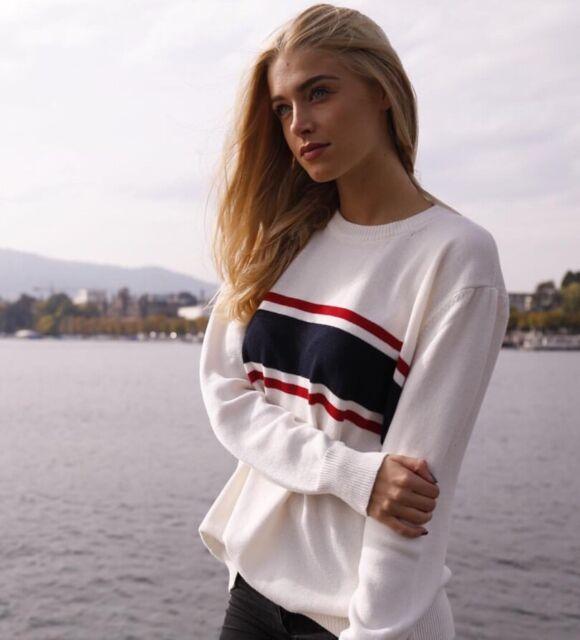 Brandy Melville Oversized Red/white/blue Striped Pull Over Jayden Sweater