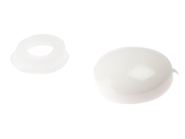 Forgefix FORPDT0M Domed Cover Cap White No. 6-8 Bag 25