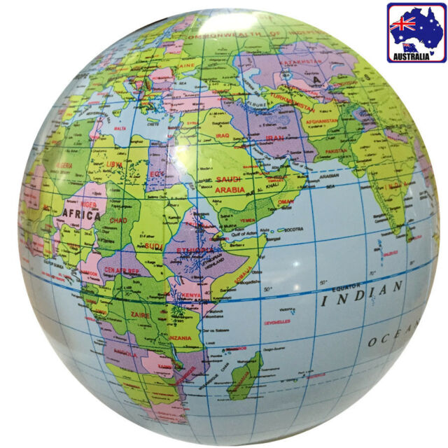 Inflatable Globe World Map. Inflatable Inflate Earth Globe Tellurion World Map Ball Geography GITOY 4621
