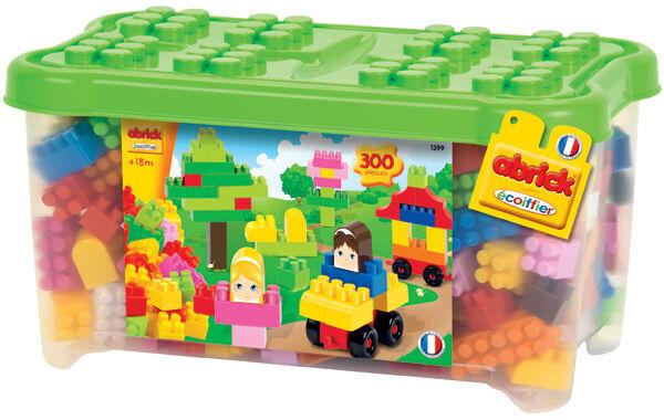 Ecoiffier Abrick Große Bausteine Box mit 300 Bausteinen Bauklötze Steckbausteine