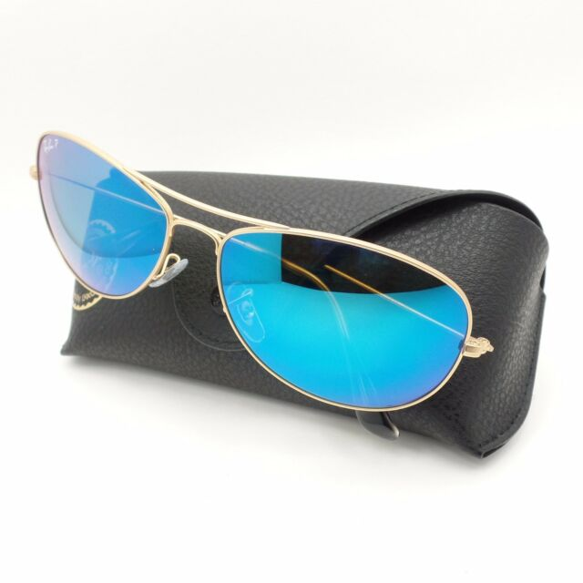 35f88c3ff2 Ray Ban 3562 112 A1 Matte Gold Blue Polarized Mirror 59 New Authentic  Sunglasses