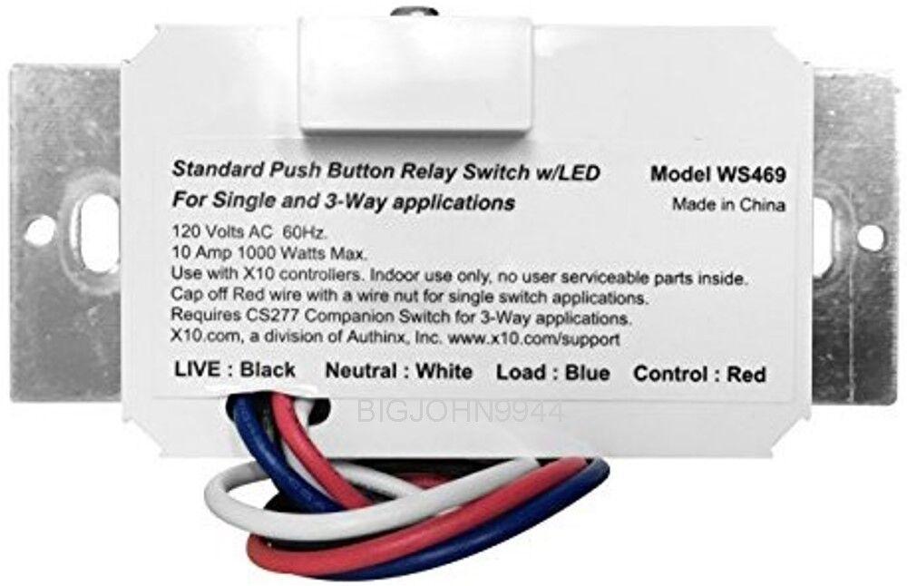 X10 WS469 Push Button Relay Wall Switch eBay