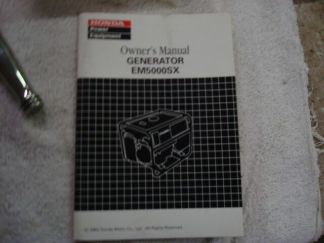 oem honda generator e4500 es4500 et4500 shop manual ebay rh ebay com honda em5000sx repair manual Honda Motorcycle Manuals