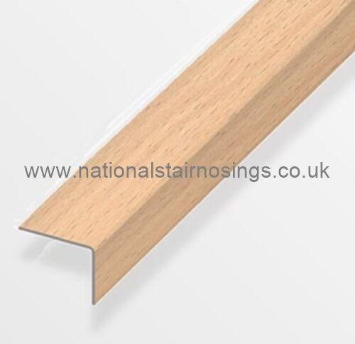 25x20mm Aluminium Beech Stair Nosing Trim Angle Edging Laminate,Wood  Flooring