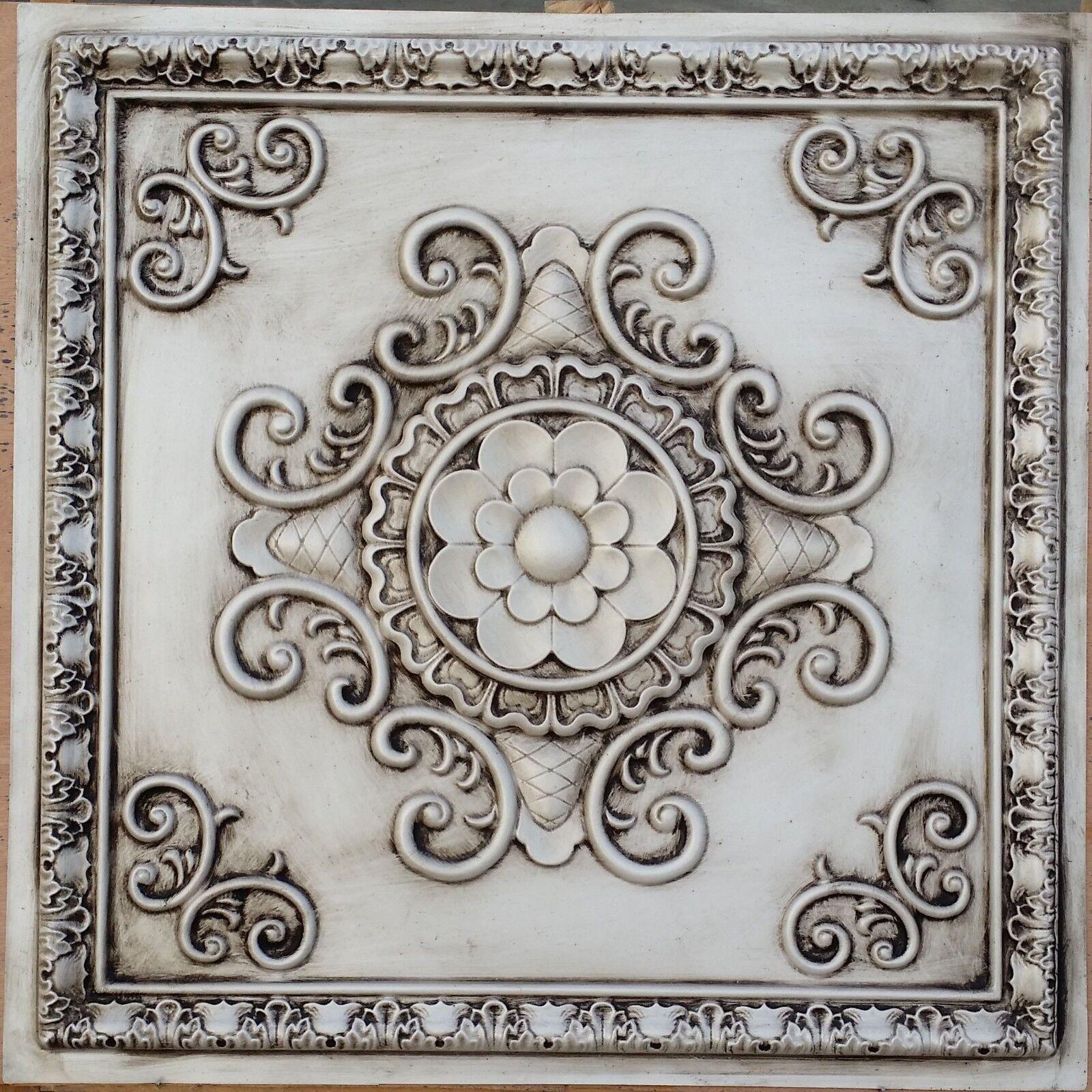 Pl08 Faux Paint Tin 3d Antique White Ceiling Tiles Decor Wall