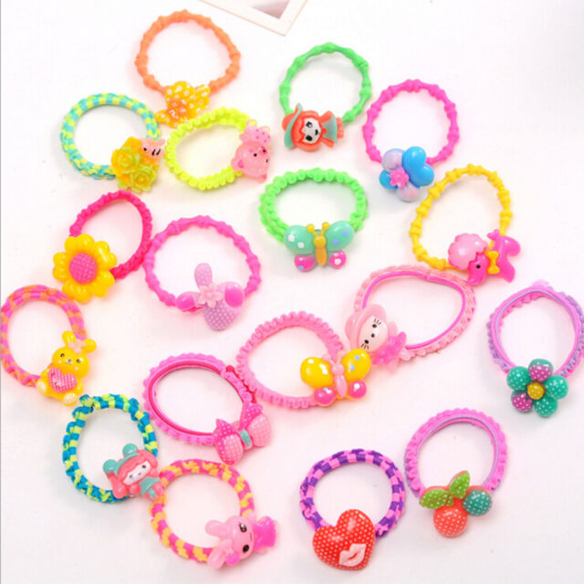 10x Colorful lovely cartoon fruit Child Hair Rubber Bands Kids hair ropes ME  HL 22fba3fc2e8