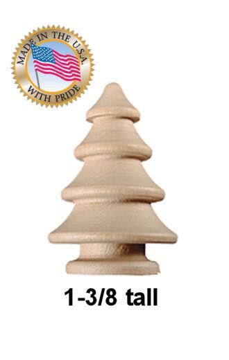 50 X 1 3 8 Round Wooden Christmas Tree Craft Wood Trees | EBay