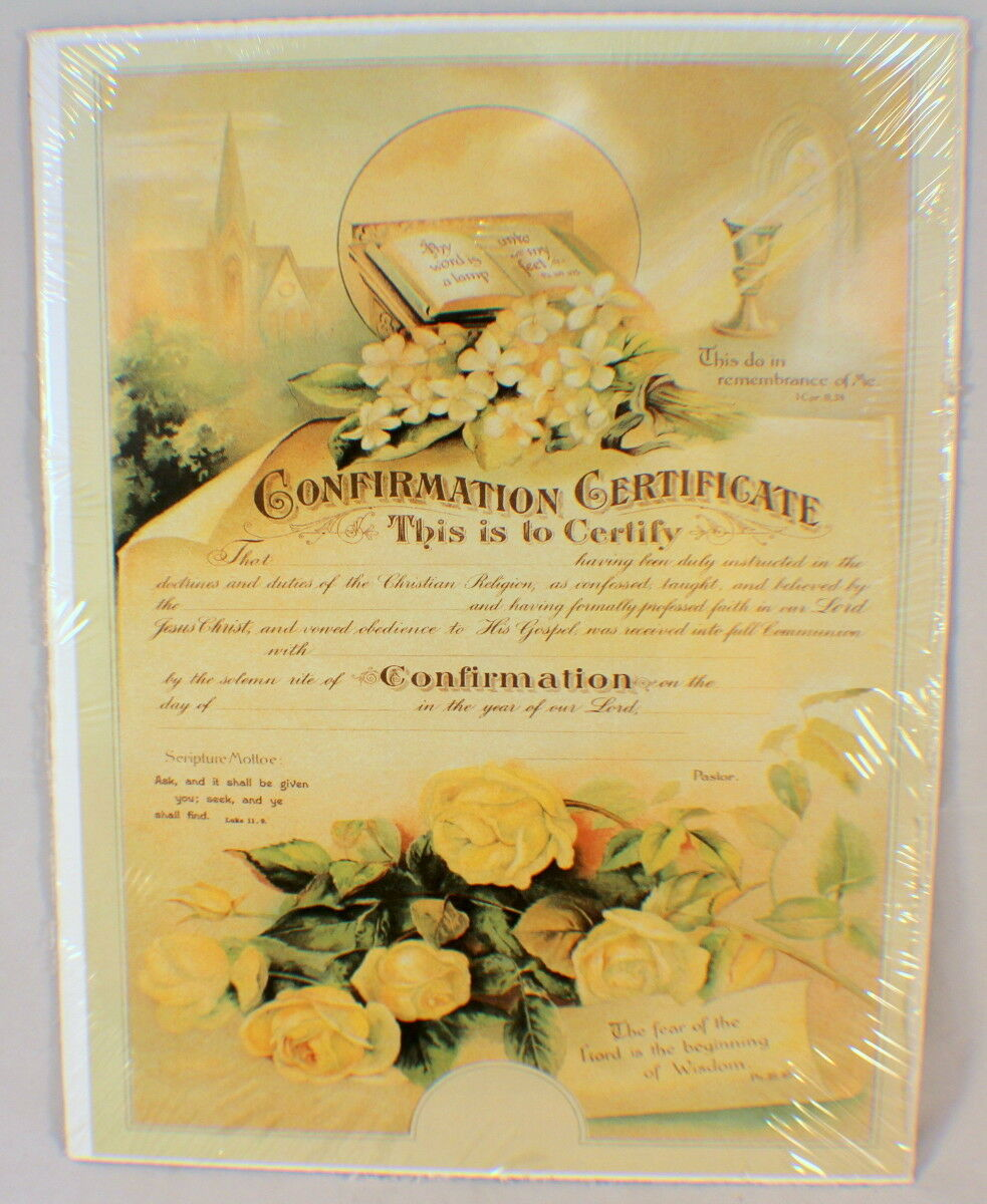 Old print factory confirmation certificate scrapbooking framing picture 1 of 3 1betcityfo Images