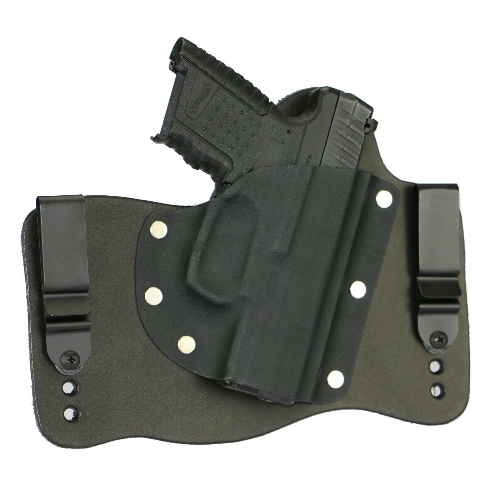 foxx leather kydex iwb hybrid holster walther pps m1 black right