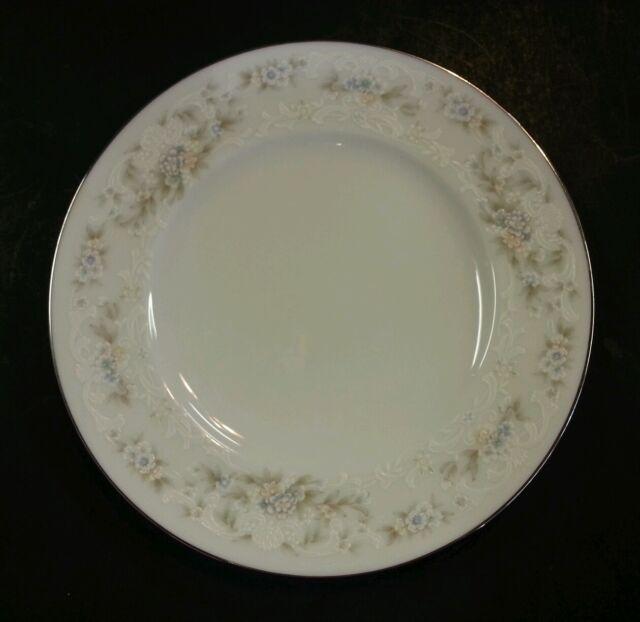 Noritake Ireland China \'Patience\' Salad Plate # 2964 White Platinum ...