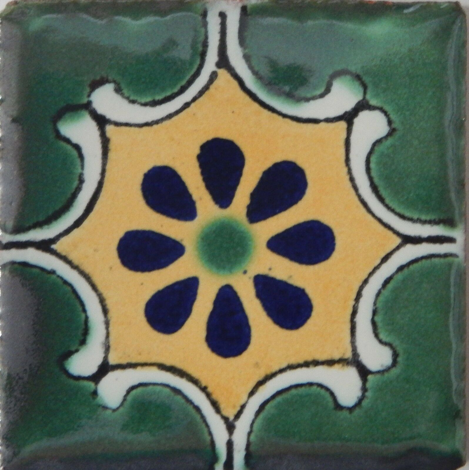 50 tiles ceramic mexican talavera handmade tile 2x2 clay mexico picture 1 of 2 dailygadgetfo Gallery