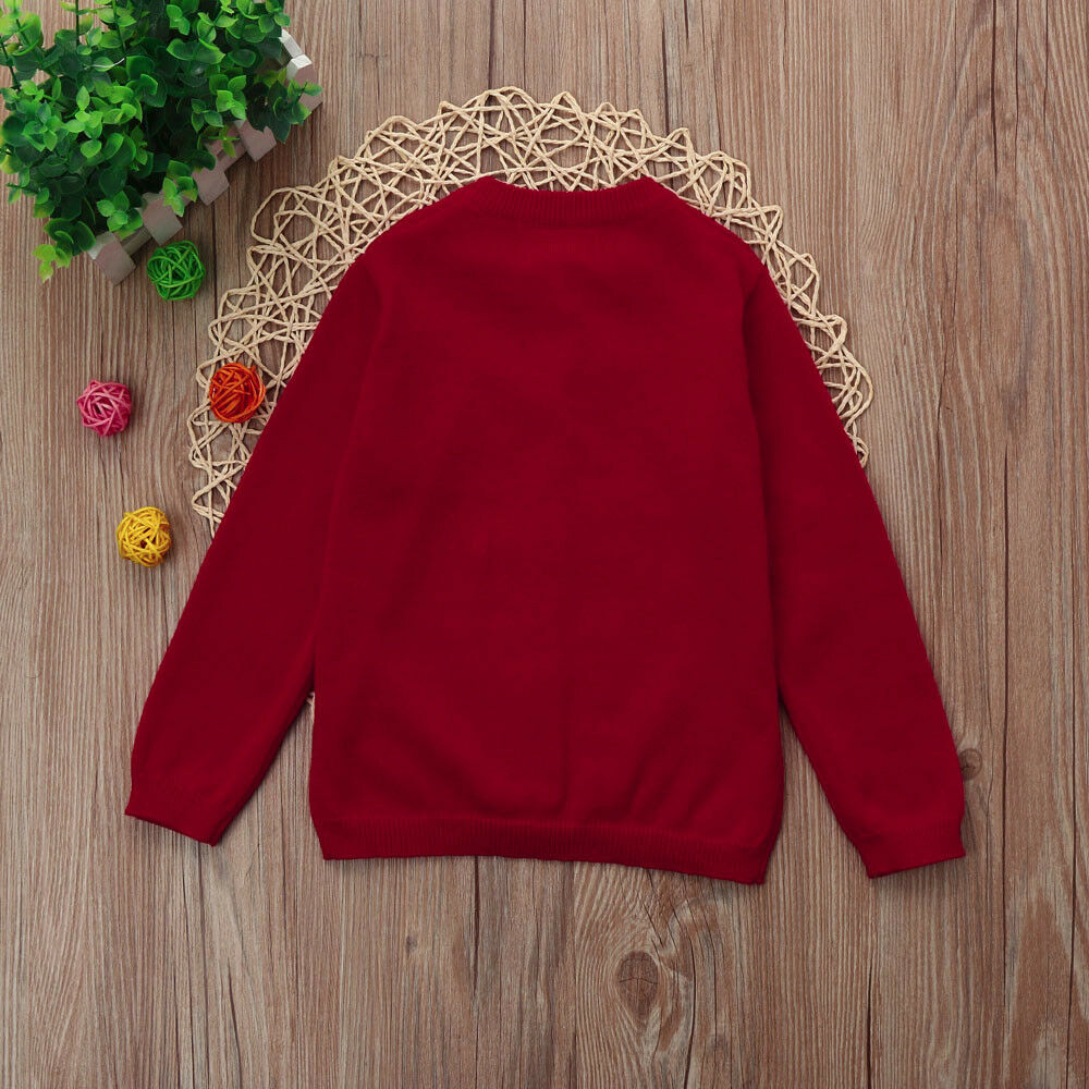Toddler Kids Baby Boy Girl Knitted Sweater Cardigan Coat Long ...