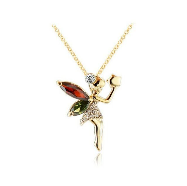 Gold tone crystal mythical fairy pendant necklace for girls teens gold tone crystal mythical fairy pendant necklace for girls teens and women aloadofball Image collections