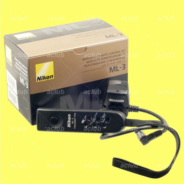Genuine Nikon ML-3 Remote Control Set D5 D4 D3 D850 D810A D810 D800 D700 D500 F6