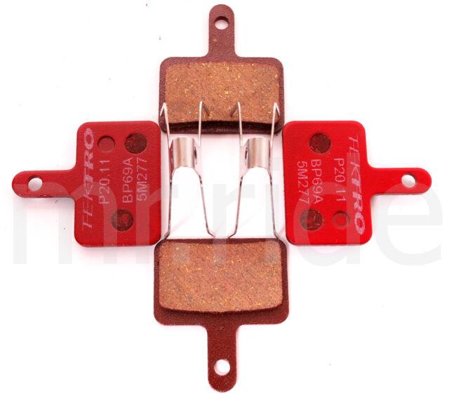 Tektro P20.11 BP69A Bike Metal Ceramic Compound Disc Brake Pad /& Return Spring