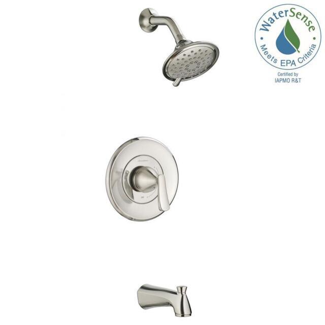 AmericanStandard Chatfield Single Handle 3 SprayTub And Shower Faucet  BrushNicke
