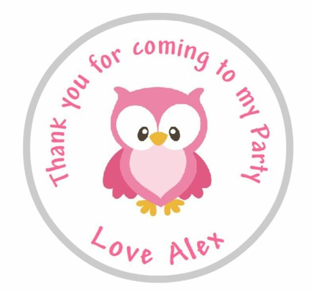 Personalised Owl Stickers