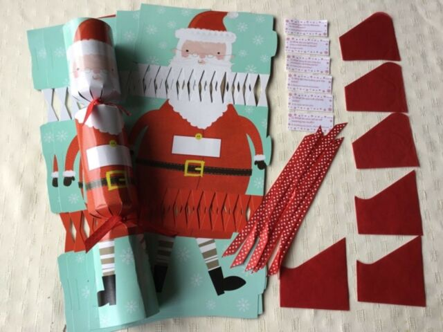 Cracker snaps make your own christmas crackers 6 ebay 6 make your own christmas crackers diy joke hat cracker snaps santa claus new solutioingenieria Choice Image