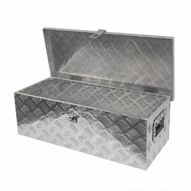 alu staubox werkzeugkasten f r pkw anh nger 760x330x245 ebay. Black Bedroom Furniture Sets. Home Design Ideas