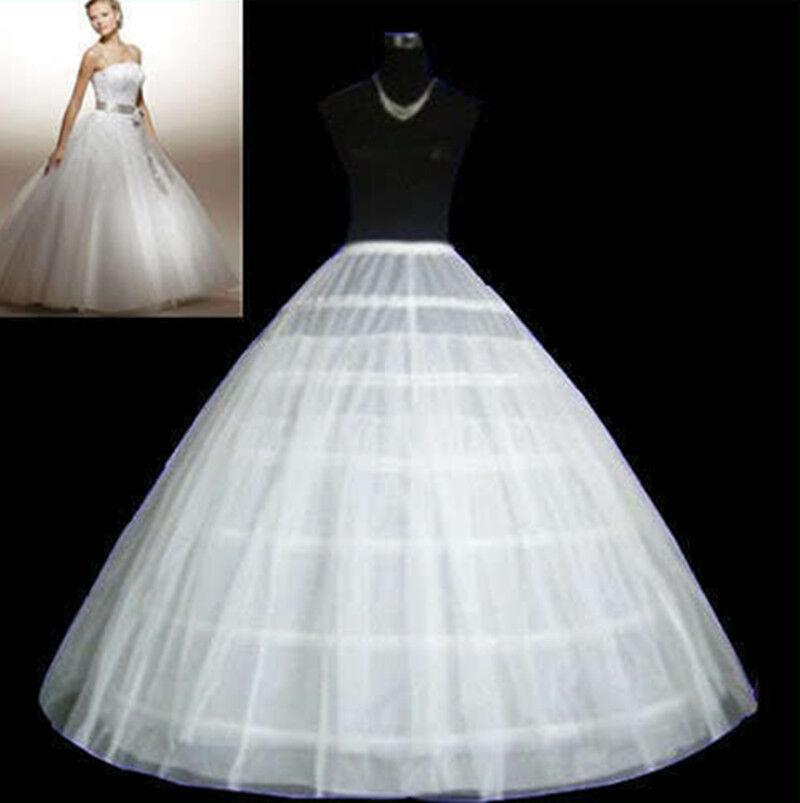 6 Hoop 2layer Petticoat Wedding Gown Crinoline Skirt Slip 3hoop Style1