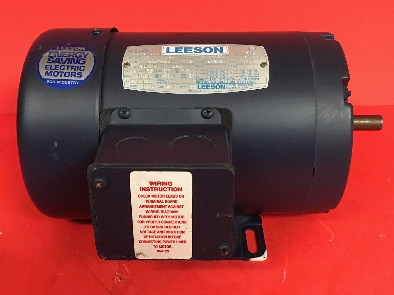 Amazing Leeson Electric Motor Wiring Diagram Ensign - Wiring Diagram ...