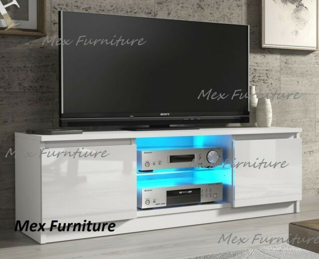 modern tv stand white. modern tv unit cabinet stand white matt and high gloss doors, free led tv