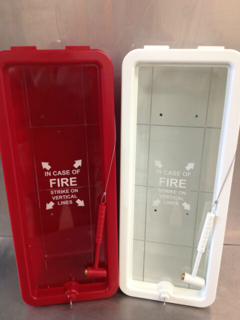 Fire Tech 10 Lb Fire Extinguisher Cabinet Indoor/Outdoor   White   Free  Shipping