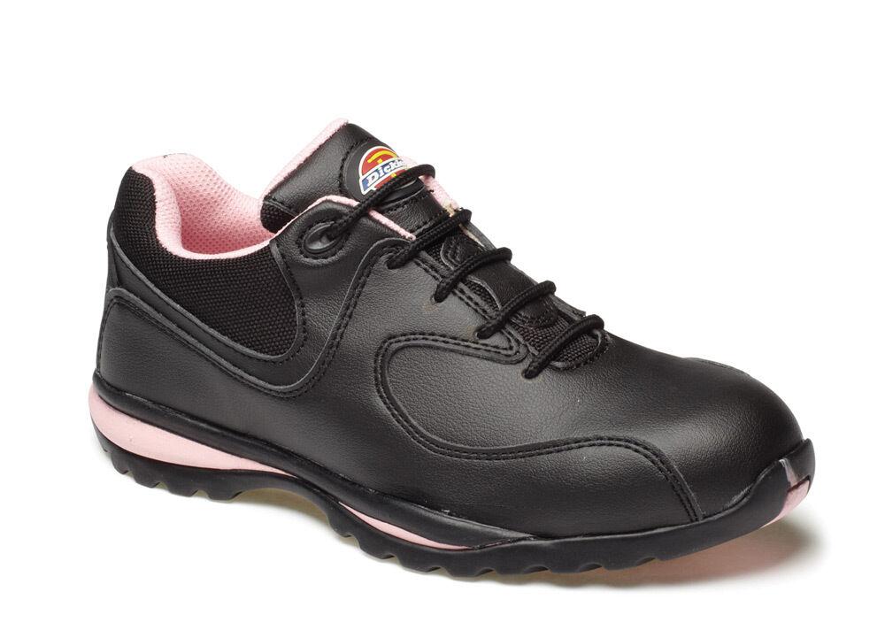 Dickies fd13905 OHIO Dama Seguridad Zapatilla rosa y negro - - negro Varias Tallas 877388