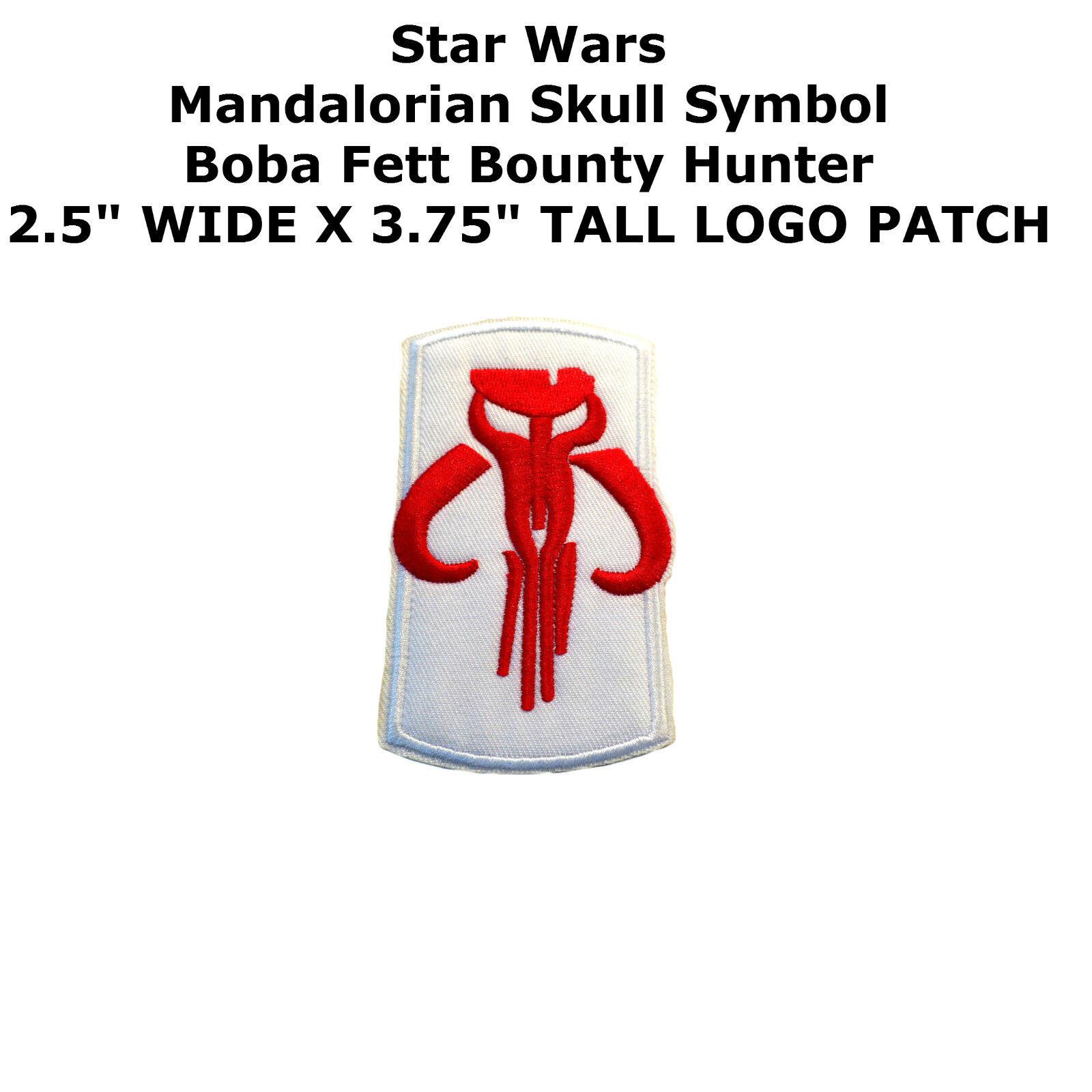 Mandalorian skull symbol boba fett bounty hunter star wars ironon picture 1 of 12 buycottarizona Image collections