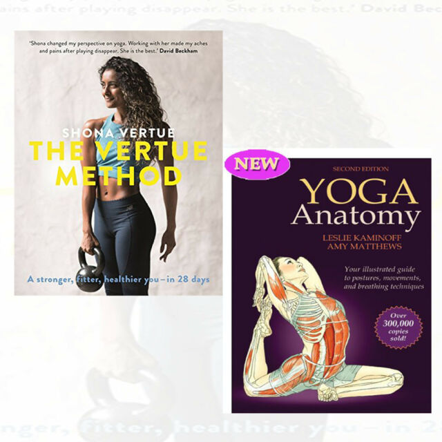 Vertue Method Yoga Anatomy By Leslie Kaminoff 2 Books Collection Set