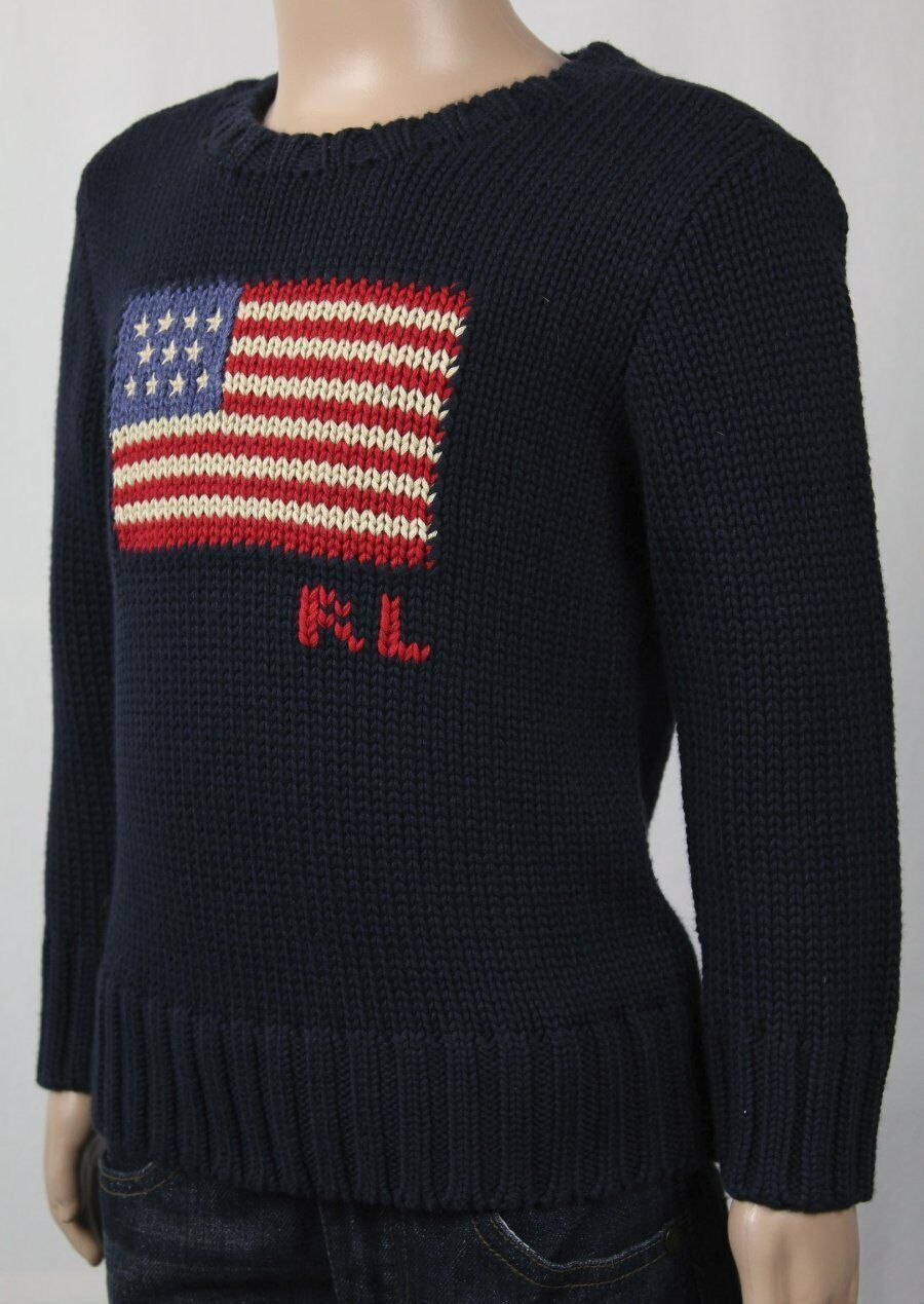 Polo Ralph Lauren US Flag Navy Blue Sweater Sz 24m 2/2t 4/4t 4t | eBay