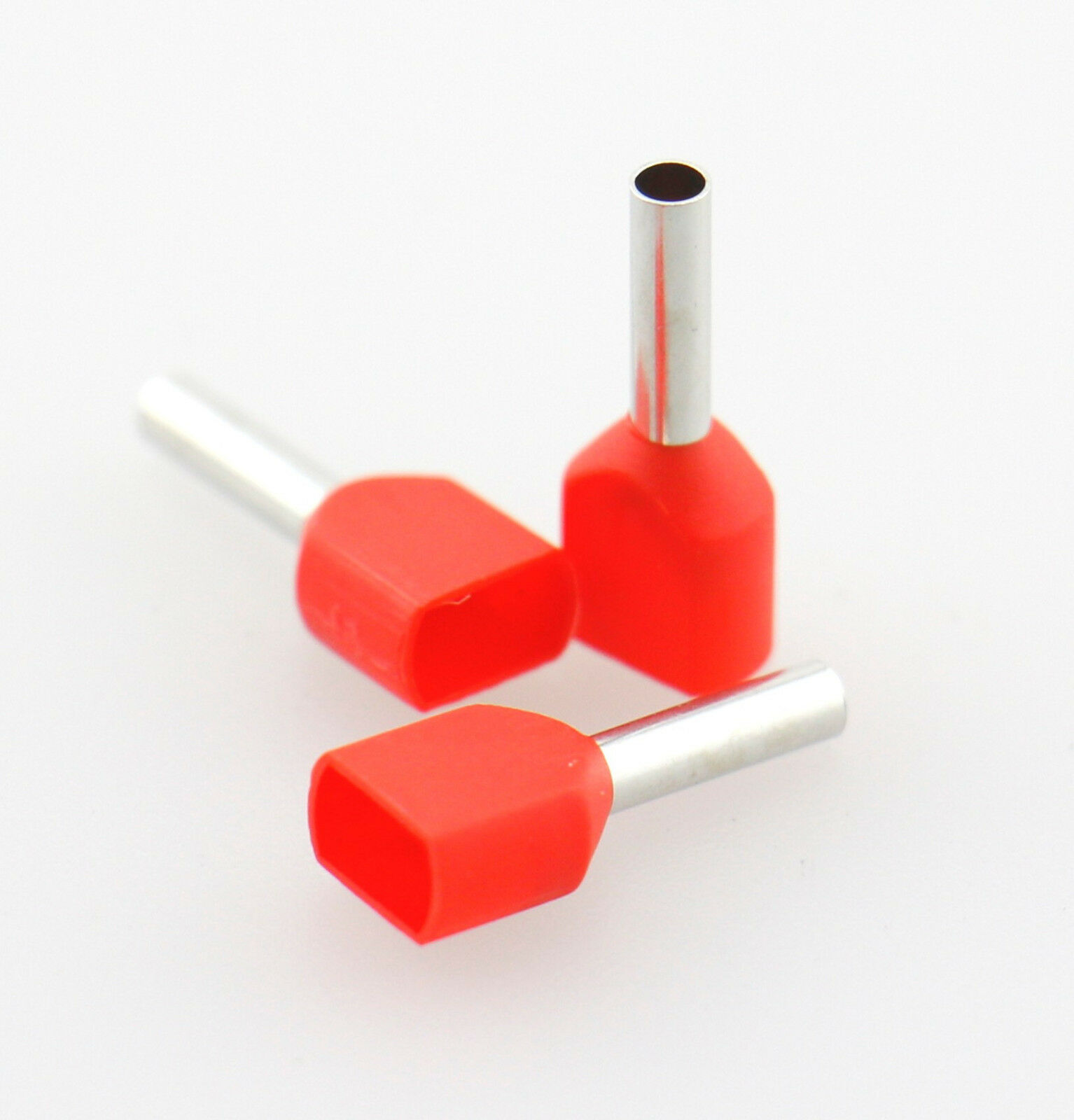 16awg Insulated Wire Ferrules Red Dual-wire Cord End Terminal ...