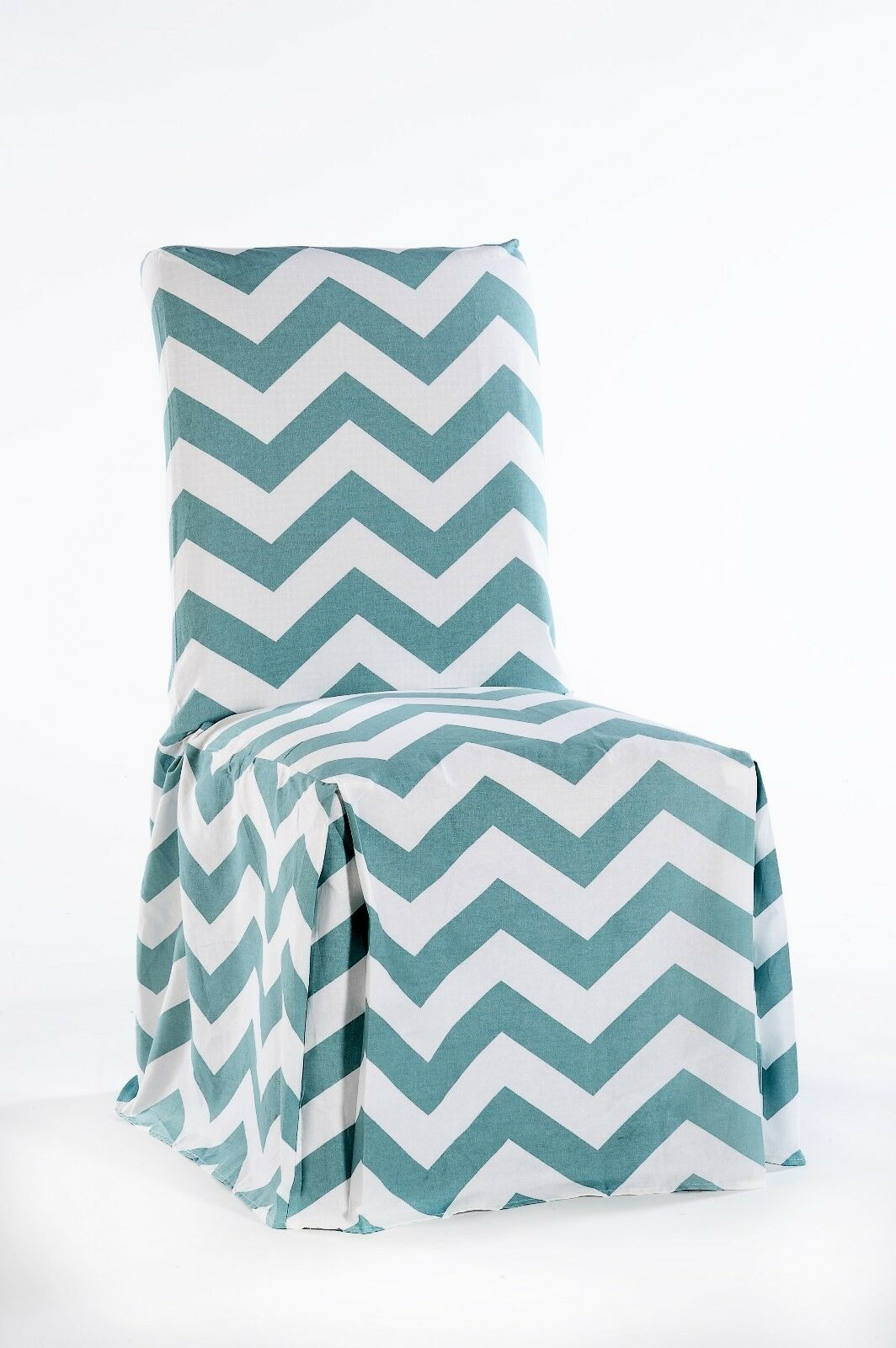 Picture 3 of 3 & Twill Cotton Chevron Pattern Full Dining Chair Slipcover Cover Tie ...