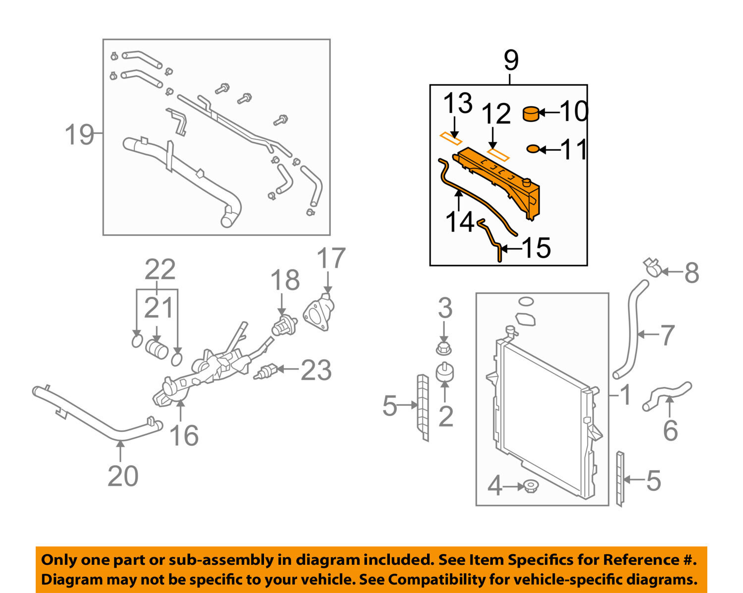 Kia Sorento Radiator Diagram 28 Wiring Images 2003 Lx I Have A S L1600 Oem 07 09 Coolant Overflow Tank Recovery