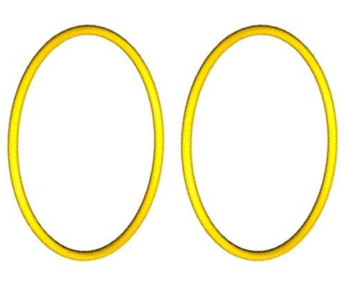 Lego Technic 2 Pcs Extra Large Yellow Rubber Band Belt X90 Round ...