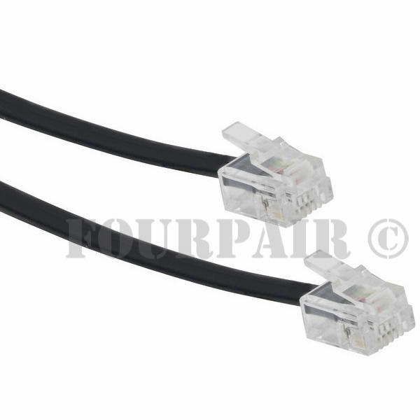 9ft Telephone Line Cord Cable Wire DSL Modem Fax Phone to Wall ...