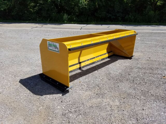 Skid Steer Tool Box : Snow pusher boxes with pullback bar skid steer bobcat