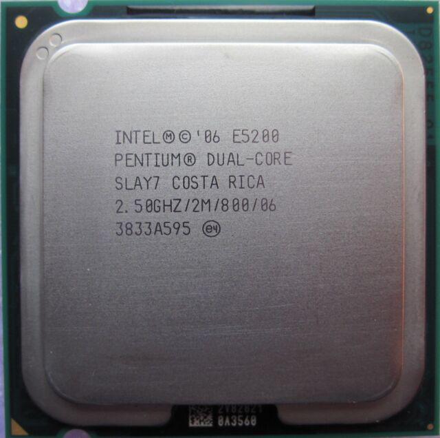 Intel Dual Core 2.50 GHz / 2M / 800 Mhz CPU E5200 LGA 775 socket & Heat Sink Fan