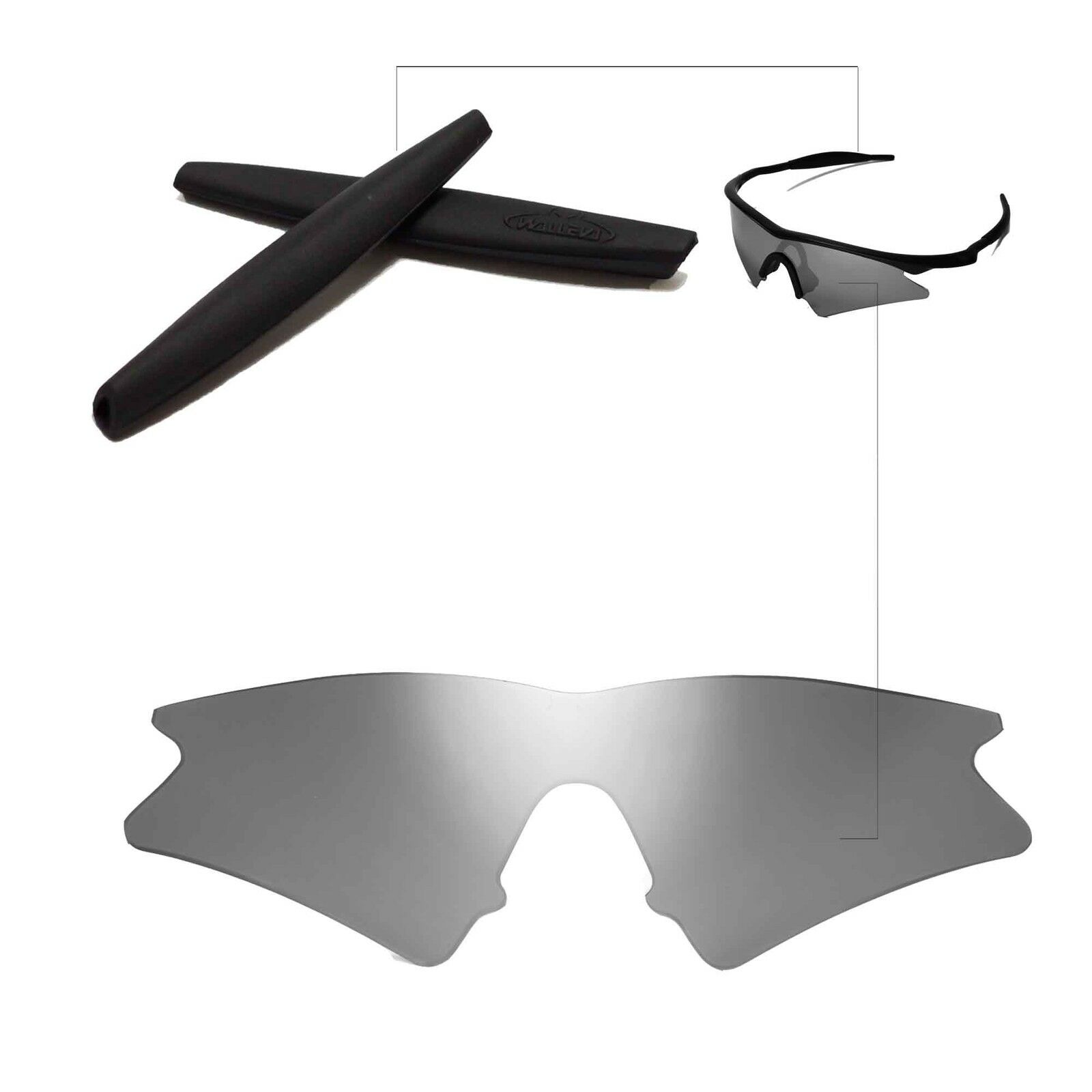 Walleva Lenses and Earsocks for Oakley M Frame Sweep - Multiple ...