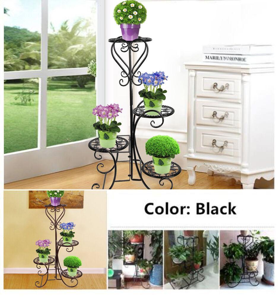 Metal Outdoor Indoor Pot Plant Stand Garden Decor Flower Rack ...
