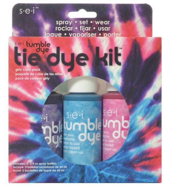 SEI Tumble Dry Tie Dye Kit - 1406 Girly Colour 3 Pack