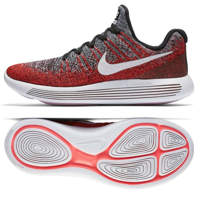 Nike LUNAREPIC Low Flyknit 2 Mens Running Shoes 9.5 Black Red Punch 863779 005