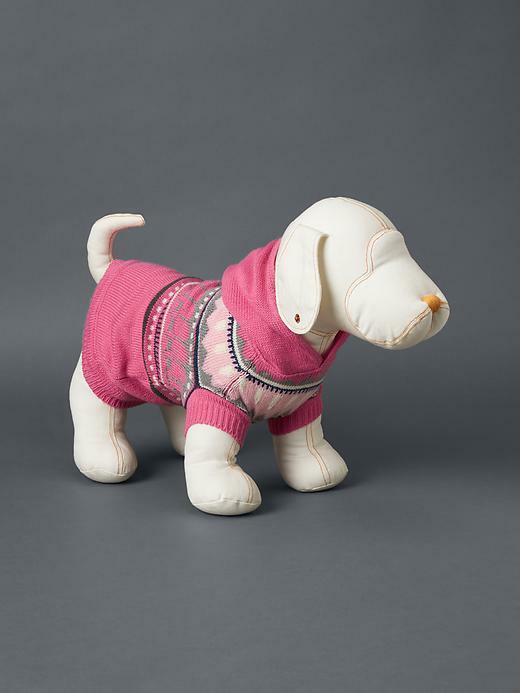 Gap Pink Fair Isle Hoody Puppy Dog Sweater M/l 25-50 Pounds | eBay