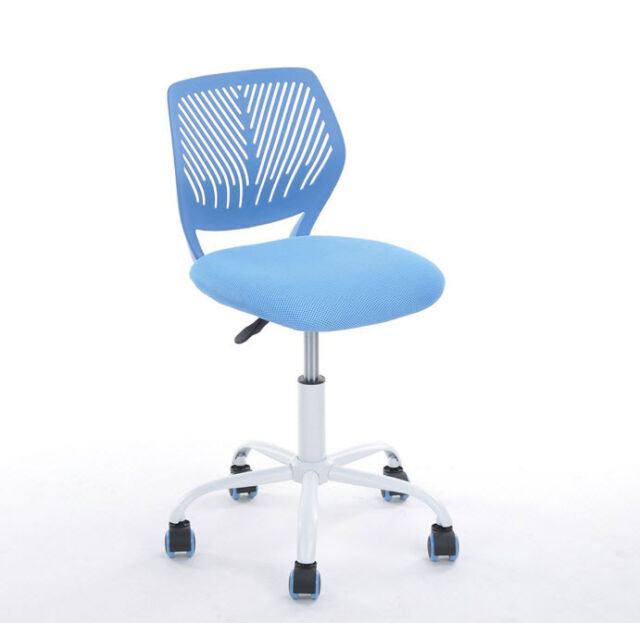 desk chair mesh back support with wheels no arms kids office