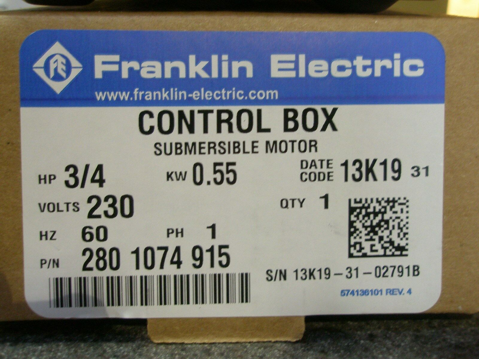 Franklin Electric 2801084915 302 Engine Parts Motor Wiring Diagram Unique Free Sample Detail Control Box S L1600