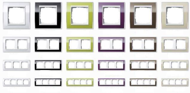 GIRA Rahmen Event klar Serie in 6 Farben – für reinweiße Zentraleinsätze - NEU